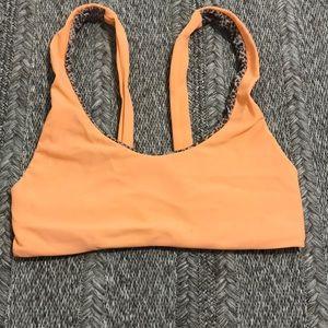 Acacia Swimwear Bikini Top in Orange